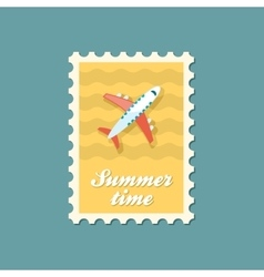 Aircraft stamp Travel Summer Vacation vector image