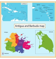 Antigua and barbuda map vector