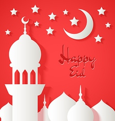 Applique with paper mosque vector