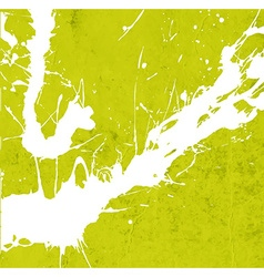 Bright green paint splash background vector