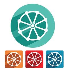 Buddhism symbol icon flat design vector