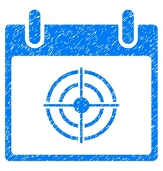 Bullseye calendar day grainy texture icon vector