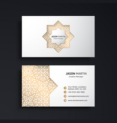 business card vintage decorative elements vector image