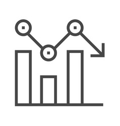 chart line icon vector image vector image