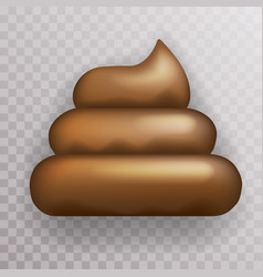 Dirty poop crap shit icon transparent background vector