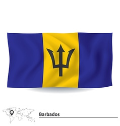 Flag of Barbados vector image vector image