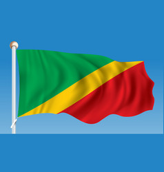 Flag of republic of congo vector