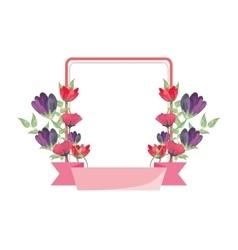 flower frame icon vector image