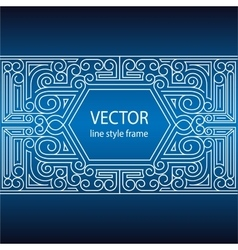 geometric linear style frame - art deco vector image vector image