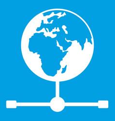 globe icon white vector image