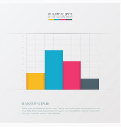 graph and infographic design yellow blue pink vector image vector image