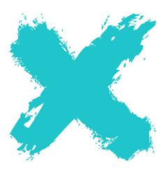 Green criss cross brushstroke delete sign vector