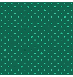 Green star polka dots background vector