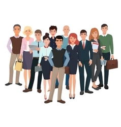 Group of men and women Business creative team vector image