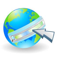 internet web search concept vector image vector image