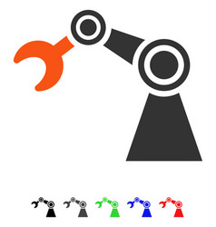 Manipulator flat icon vector