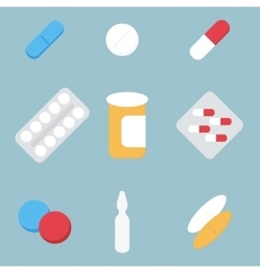 Medical treatment pills vector image vector image