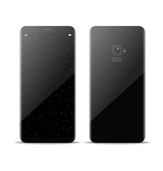 modern frameless smartphone with galaxy wallpaper vector image vector image