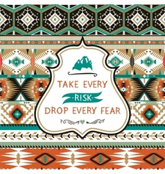 Navajo seamless colorful tribal pattern with vector image