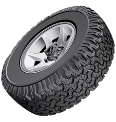 Offroad vehicles wheel vector image vector image