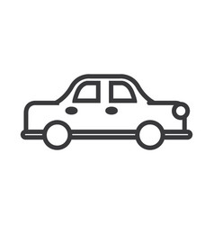 retro car line icon sign on vector image