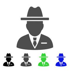 Spy person flat icon vector