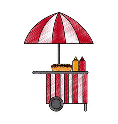 Street food stand icon image vector