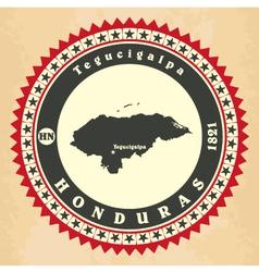 Vintage label-sticker cards of Honduras vector image vector image