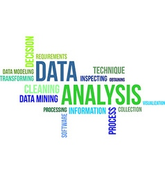 Word cloud data analysis vector