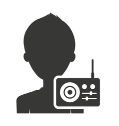 person silhouette with sound icon vector image