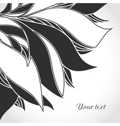 Black and white tattoo pattern vector