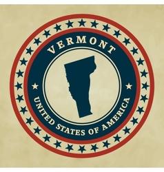 Vintage label Vermont vector image