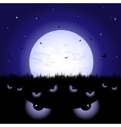 Eyes at night vector