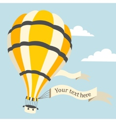 Hot air balloon on the sky vector