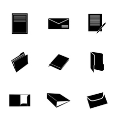 black document icons set vector image