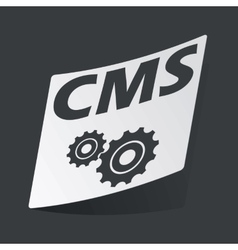 Monochrome cms settings sticker vector