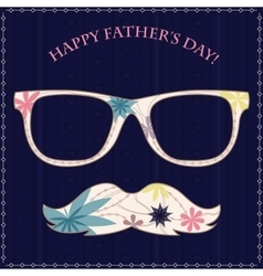 Happy fathers day card 2 vector