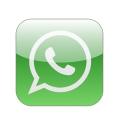 Green phone in speech bubble icon whatsapp vector