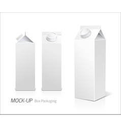 Mock-up packages juice and milk vector