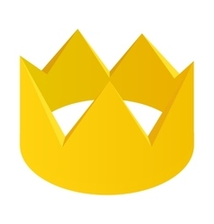Gold crown isometric 3d icon vector