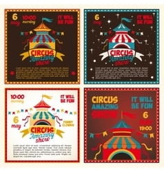 Set circus posters vector
