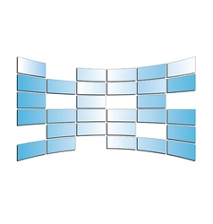 Light blue monitors - isolated vector