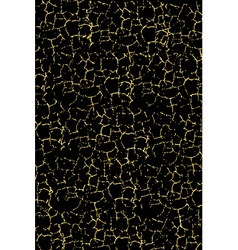 black texture with gold cracks vector image