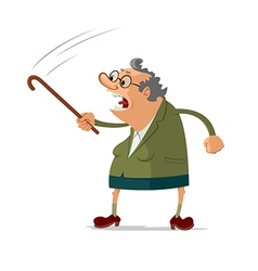 Angry old woman vector