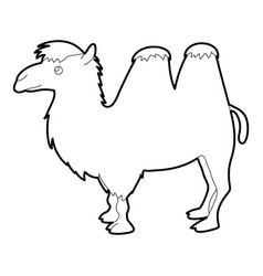 Camel icon outline style vector