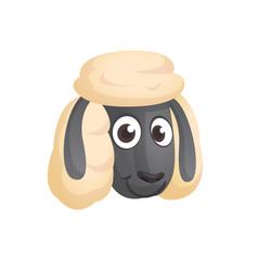 cartoon sheep character vector image vector image