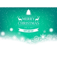 Christmas background with retro badge and vector image