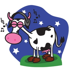 Cow music vector