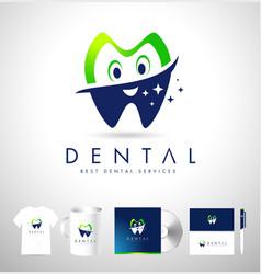 Dental Logo Design Corporate Identiy vector image vector image