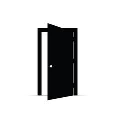 door open icon vector image